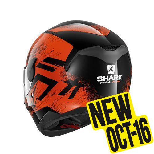 Casque moto shark orange